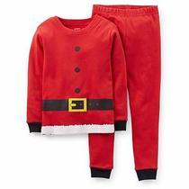 Carter's Kids Boys 2 Piece Snug Fit Santa's Christmas Cotton Pajamas Set Size 7 Photo