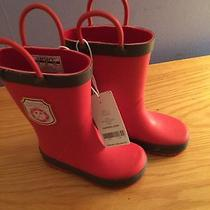 Carter's Kids Red Volunteer Fire Rain Boots - New With Tags Photo