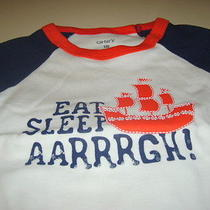Carter's Pirate Ship Short Sleeve Boy Pajamas 4-Piece 18 Months Red Navy White Photo