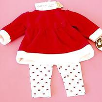 Carter's Red and White Dress With Leggings Newborn Photo