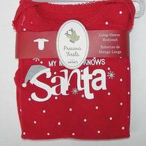 Carter's Red Christmas My Mommy Knows Santa Bodysuit Newborn New Photo