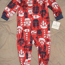 Carter's Red Footed Sleep 'N Play-Dogs & Pirate Ships-Size 12 Months-Nwt Photo