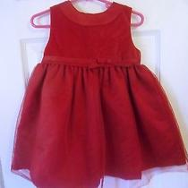 Carter's Red Holiday Dressy Dress 24 Month Photo