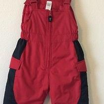 Carter's Red Snow Bib Size 12 Month Photo