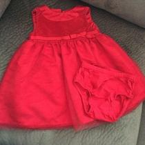 Carter's Red Velvety Holiday Dress 9 Mths Photo