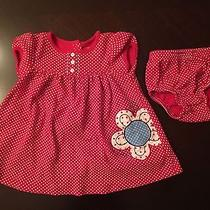 Carter's Red White Dress With Diaper Cover (12 Months) Photo