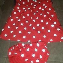 Carter's Red White Polka Dot 12 Month  Dress With Diaper Cover Photo