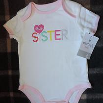 Carter's Short-Sleeve Little Sister Girls Bogysuit Size 6 Months Photo