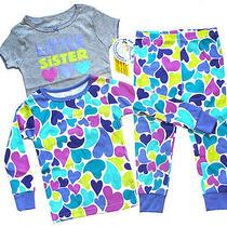 Carter's Sweet Little Sister 3pc Pajama Set Sz 24m Photo