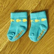 Carter's Unisex I Wish for Little Fish Htf Baby Socks Size 0-3 Months Photo