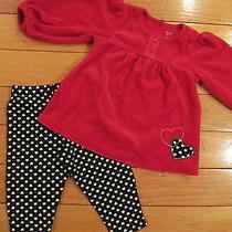 Carter's Velour Heart Top W/ Matching Heart Pants 12 Mos Photo