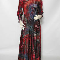 Carter Smith Shibori Bright Red Pink Blue Tie Dye Silk Dress Sz M L Nwt 1750 Photo