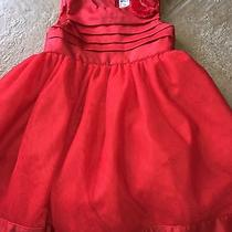 Carters 3t 3 Girls Red Silk Fluffy Dress Euc Wedding Holiday See Other Listings Photo
