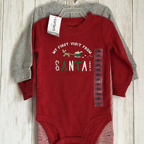 Carters 9 Months Baby 3 Piece Holiday Christmas Red Reindeer Outfit Boy Girl Photo
