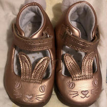 Carters Bunny Rabbit Face & Tail Butter Soft Easter Shoes Baby / Toddler Size 4 Photo