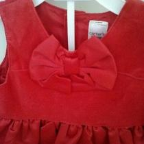 Carters Childrens Dress 12 Months Red With Bow Photo