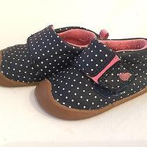 Carters Every Step Christy P Walker Shoe Infant/toddler Navy Dot Size 2.5 Photo