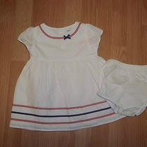 Carters Girls 18 Months White Red Blue Dress and Diaper Cover Photo