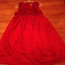 Carters Girls Red Dress  Size 6 Photo