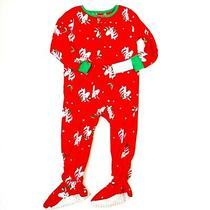Carters Girls Red Green Unicorn Holiday Pjs Sleeper Soft Fleece 24m New Photo