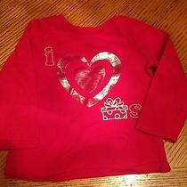 Carters Girls Red Shirt With Heart 2t Photo