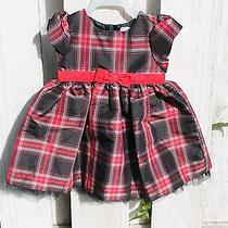 Carters Holiday Red and Black Dress 12m Photo