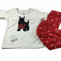 Carters Kitty Cat 2 Piece Fleece Pajama Set  White Red Polka Dot Size 5 Photo