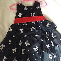 Carters Navy Blue and Red Dress Photo