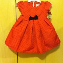 Carters Red Holiday Party Dress 9m Girls  Photo