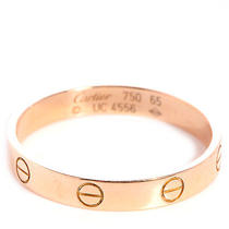 Cartier 18k Pink Gold 3.6mm Love Wedding Band Ring Rose Gold 65 Us 11 Photo