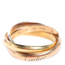 Cartier 18k Pink Yellow White Gold Trinity Ring 54 Us 6.75 Photo