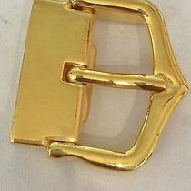 Cartier 1990's Belt Buckle Gold Plated ...no Reserve Auction Photo