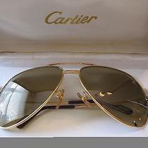 Cartier Aviator Sunglasses 18k Solid Gold Photo