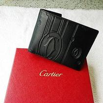 Cartier Black Leather Wallet Authentic New in Box Photo