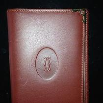 Cartier Burgundy Leather Address Book Photo