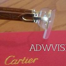 Cartier C Decor Engraved Wood Eyeglasses Sunglasses Photo