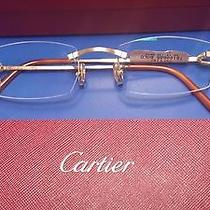 Cartier C Decor Metal Golden Finish Metal Rimless Eyeglasses T8100685 Photo