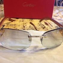 Cartier Cabrera Wood and Gold Brown Sunglasses Photo