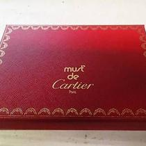 Cartier Cowhide Leather Bifold Wallet Wine Red Photo