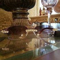 Cartier Diamond Brown Wood Frame Eyeglasses  Photo