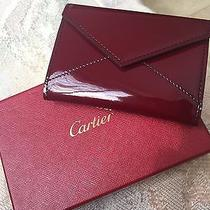 Cartier Envelope Card Holder. Wine Red Photo