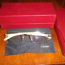 Cartier Eyeglasses Sunglasses Platinum and Wood Photo