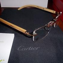 Cartier Eyeglasses Sunglasses Rimless Gold and Wood Photo