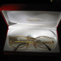 Cartier Eyeglasses  T8100146 53-22opt Glold Plated Photo