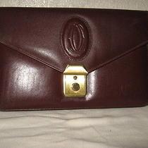 Cartier Genuine Leather Clutch Handbag W/ Wrist Strap Photo