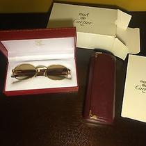 Cartier Giverny Round Wood Glasses Photo