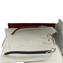 Cartier Giverny Vintage Gold Platinum Bubinga Wood Sunglasses Glasses Frames Photo