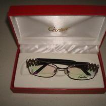 Cartier Glasses Dark Brown/light Brown Frames Photo