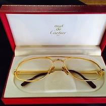 Cartier Glasses Frame Gold With Cartier Glasses Case Photo