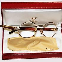 Cartier Glasses With 20 Diamonds Wood Temples Photo